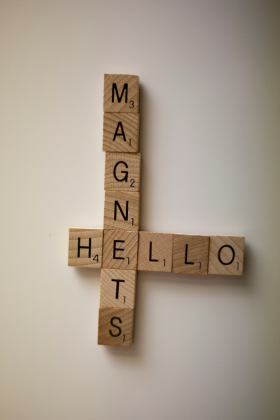 Hello Scrabble Magnets